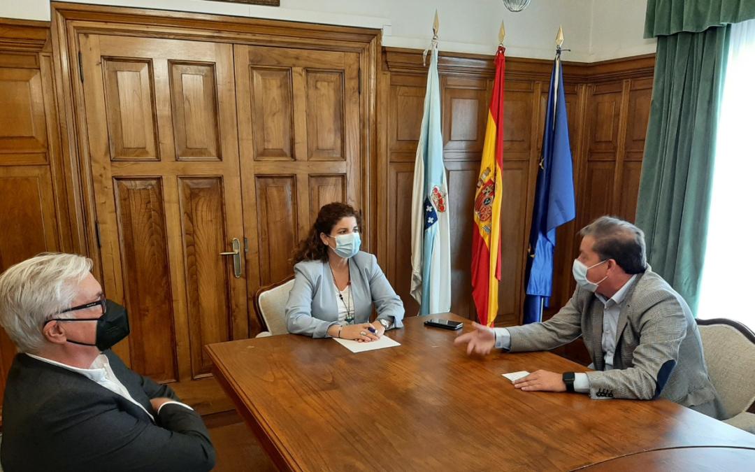 Reunión con Subdelegada del Gobierno de Coruña con  los responsables de Asociación de Empresa y Expertos de Seguridad de Galicia (AESGA)